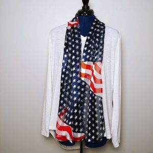 Accessories - American Flag Scarf - NWOT